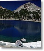 Lake Helen At Mt Lassen Triptych Metal Print by Peter Piatt