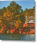 Lake House Metal Print by Brenda Bryant