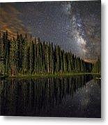 Lake Irene's Milky Way Mirror Metal Print by Mike Berenson