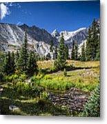 Lake Isbelle Mountains Metal Print by Michael J Bauer
