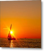 Lake Michigan Sunset Metal Print by Bill Gallagher