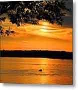Lake Panarama Sunset Metal Print by Bob Hislop
