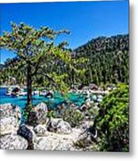 Lake Tahoe Bonsai Tree Metal Print by Scott McGuire