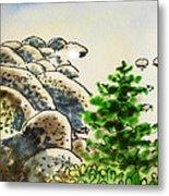 Lake Tahoe - California Sketchbook Project Metal Print by Irina Sztukowski