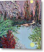 Lake Tranquility Metal Print by Alys Caviness-Gober