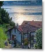Lake View Down To Lake Como In Italy Metal Print by Anna-Mari West