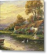 Lakeside Cottage Metal Print by Ghambaro