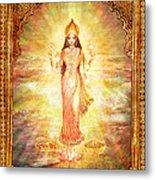Lakshmi The Goddess Of Fortune And Abundance Metal Print by Ananda Vdovic