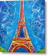 L'amour A Paris Metal Print by Teshia Art