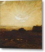 Landscape At Sunset Metal Print by Marie Auguste Emile Rene Menard