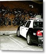Lapd Cruiser And Police Bikes Metal Print by Nina Prommer