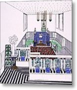 Large Balconied Reception Room Metal Print by Leopold Bauer