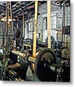 Large Lathe In Machine Shop Metal Print by Susan Savad