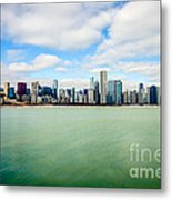 Large Picture Of Downtown Chicago Skyline Metal Print by Paul Velgos