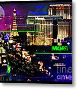 Las Vegas Igniting Your Fire Metal Print by Christine Mayfield