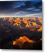 Last Light In The Grand Canyon Metal Print by Andrew Soundarajan