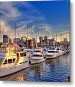 Late Afternoon At Constitution Marina - Charlestown Metal Print by Joann Vitali