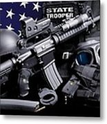 Law Enforcement Tactical Trooper Metal Print by Gary Yost
