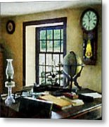 Lawyer - Globe Books And Lamps Metal Print by Susan Savad