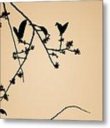 Leaf Birds Metal Print by Darryl Dalton