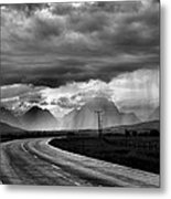 Leaving The Tetons Metal Print by Steven Ainsworth