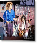 Led Zeppelin Page And Plant Live Aid 1985 Metal Print by Chuck Spang