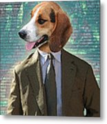 Legal Beagle Metal Print by Nikki Smith