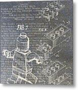 Lego Patent Metal Print by Nick Pappas