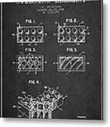 Lego Toy Building Element Patent - Dark Metal Print by Aged Pixel