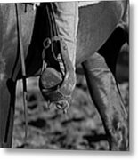 Legs Black And White Metal Print by Michelle Wrighton