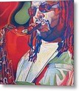 Leroi Moore Colorful Full Band Series Metal Print by Joshua Morton