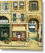 Les Rues De Paris Metal Print by Marilyn Dunlap