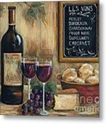 Les Vins Metal Print by Marilyn Dunlap