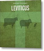Leviticus Books Of The Bible Series Old Testament Minimal Poster Art Number 3 Metal Print by Design Turnpike