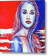 Liberty American Girl Metal Print by Anna Ruzsan