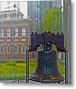Liberty Bell Metal Print by Tom Gari Gallery-Three-Photography