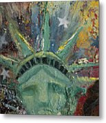 Liberty Breaking Out Metal Print by Trish Bilich