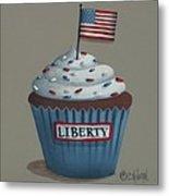 Liberty Cupcake Metal Print by Catherine Holman
