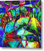 Liberty Head Abstract 20130618 Long Metal Print by Wingsdomain Art and Photography
