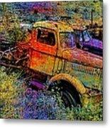 Liberty Truck Abstract Metal Print by Robert Jensen