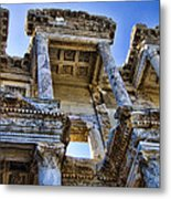 Library Of Celsus Metal Print by David Smith