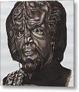 lieutenant commander Worf Star Trek TNG Metal Print by Giulia Riva