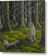 Life In The Woodland Metal Print by Veikko Suikkanen
