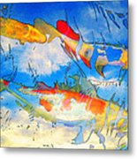 Life Is But A Dream - Koi Fish Art Metal Print by Sharon Cummings