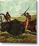 Life On The Prairie Metal Print by Currier and Ives