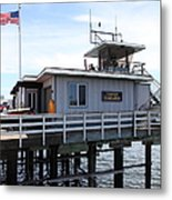 Lifeguard Headquarters On The Municipal Wharf At Santa Cruz Beach Boardwalk California 5d23827 Metal Print by Wingsdomain Art and Photography