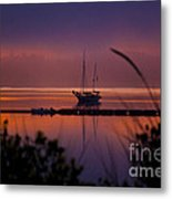 Lifting Morning Fog Metal Print by Ron Roberts