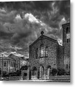 Light Above The Church Metal Print by Marvin Spates