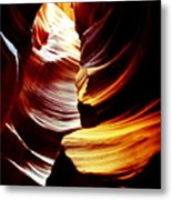 Light From Above - Canyon Abstract Metal Print by Aidan Moran