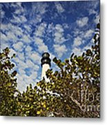 Lighthouse At Bill Baggs Florida State Park Metal Print by Eyzen Medina